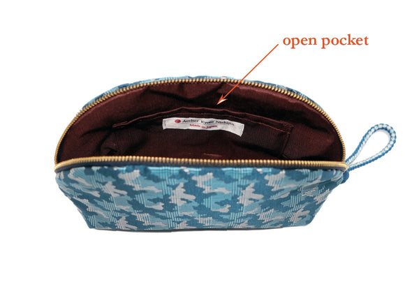 pure silk jacquard camouflage shell-shaped pouch spec2
