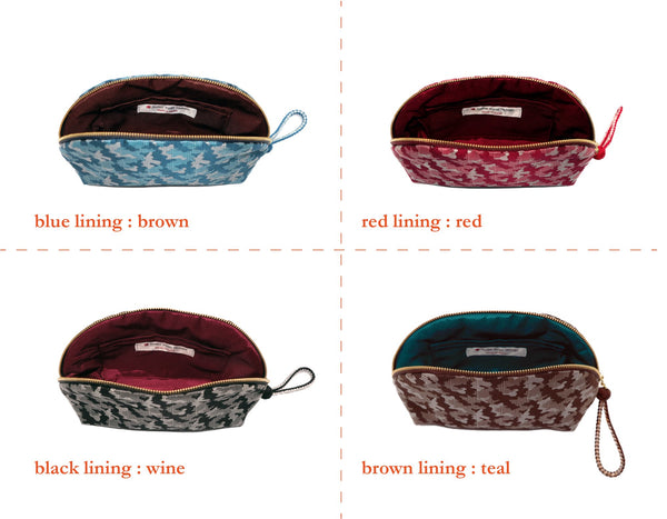 pure silk jacquard camouflage shell-shaped pouch lining