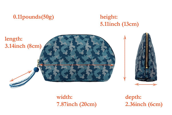 pure silk jacquard camouflage shell-shaped pouch spec
