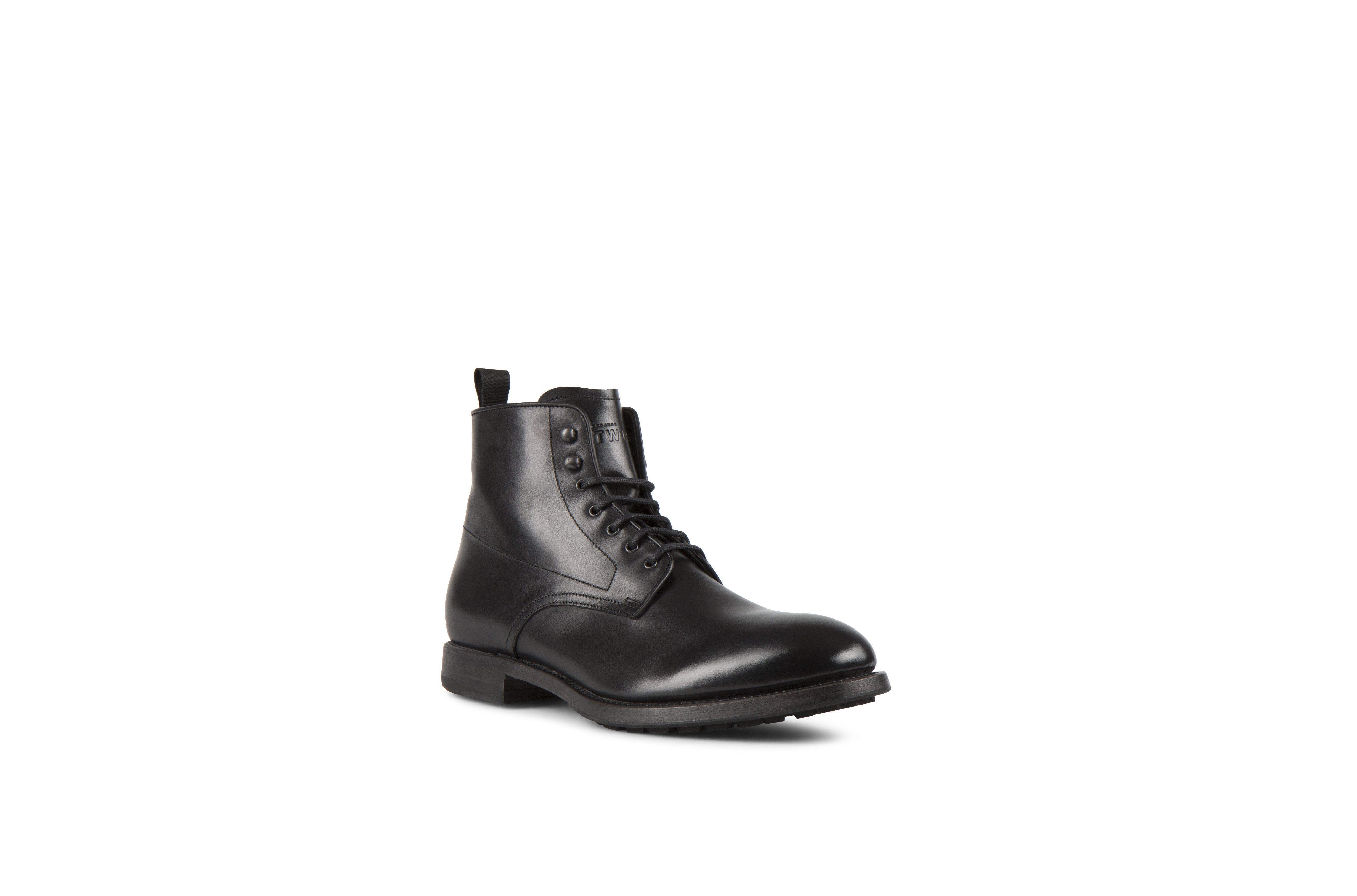 Cult Black Cordovan Leather Balmoral Boots