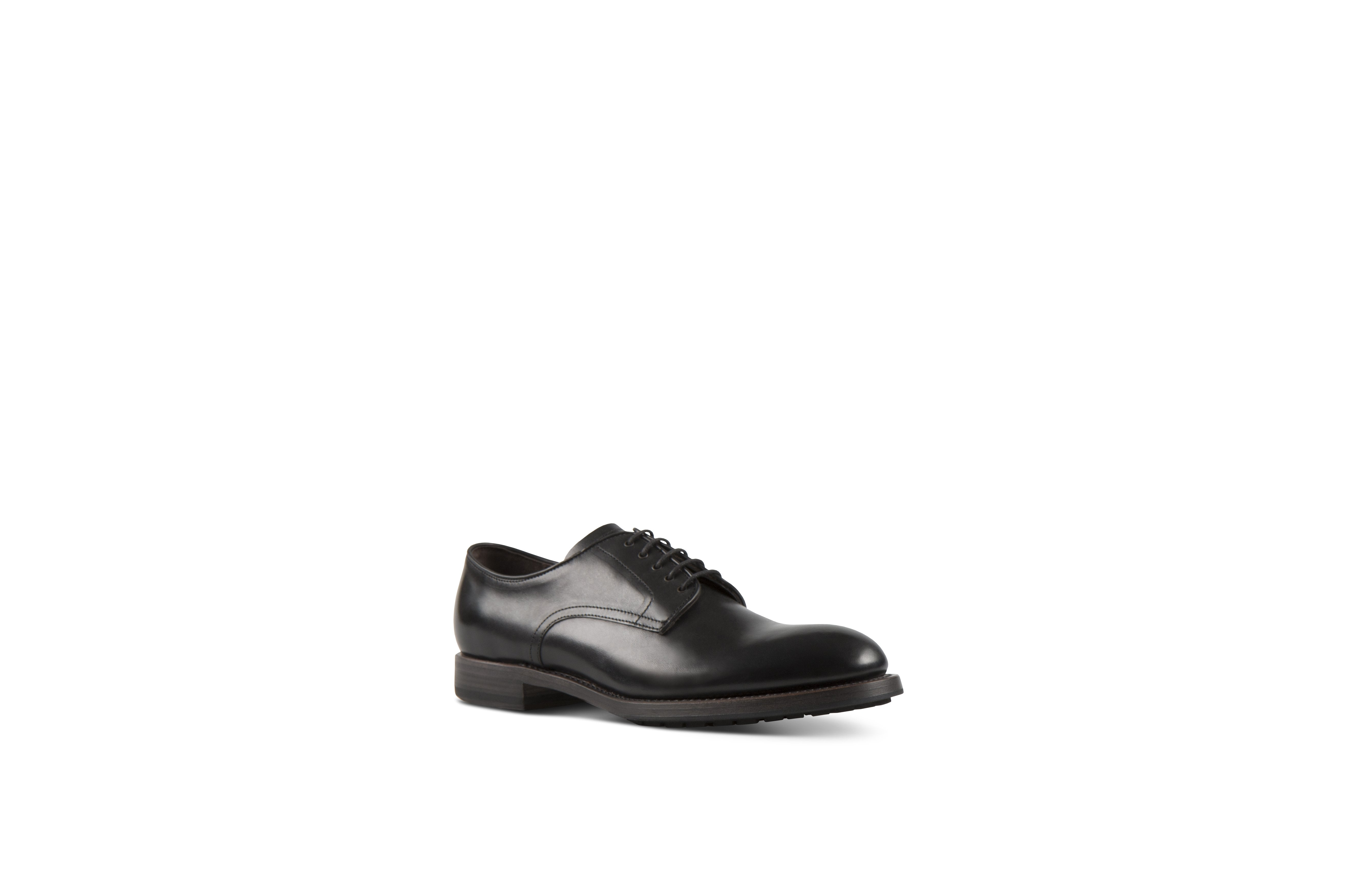 Daze Black Cordovan Leather Shoes