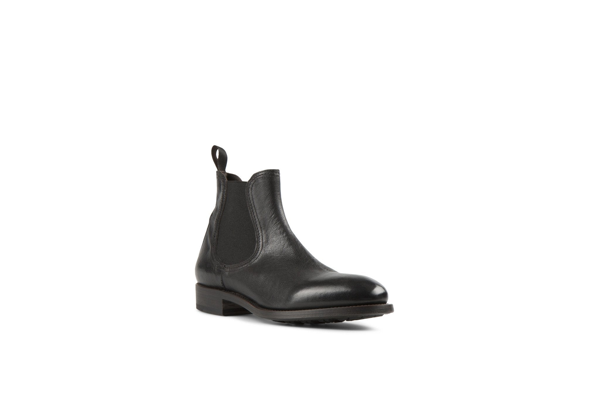 Hanoi Black Kangaroo Leather Chelsea Boots