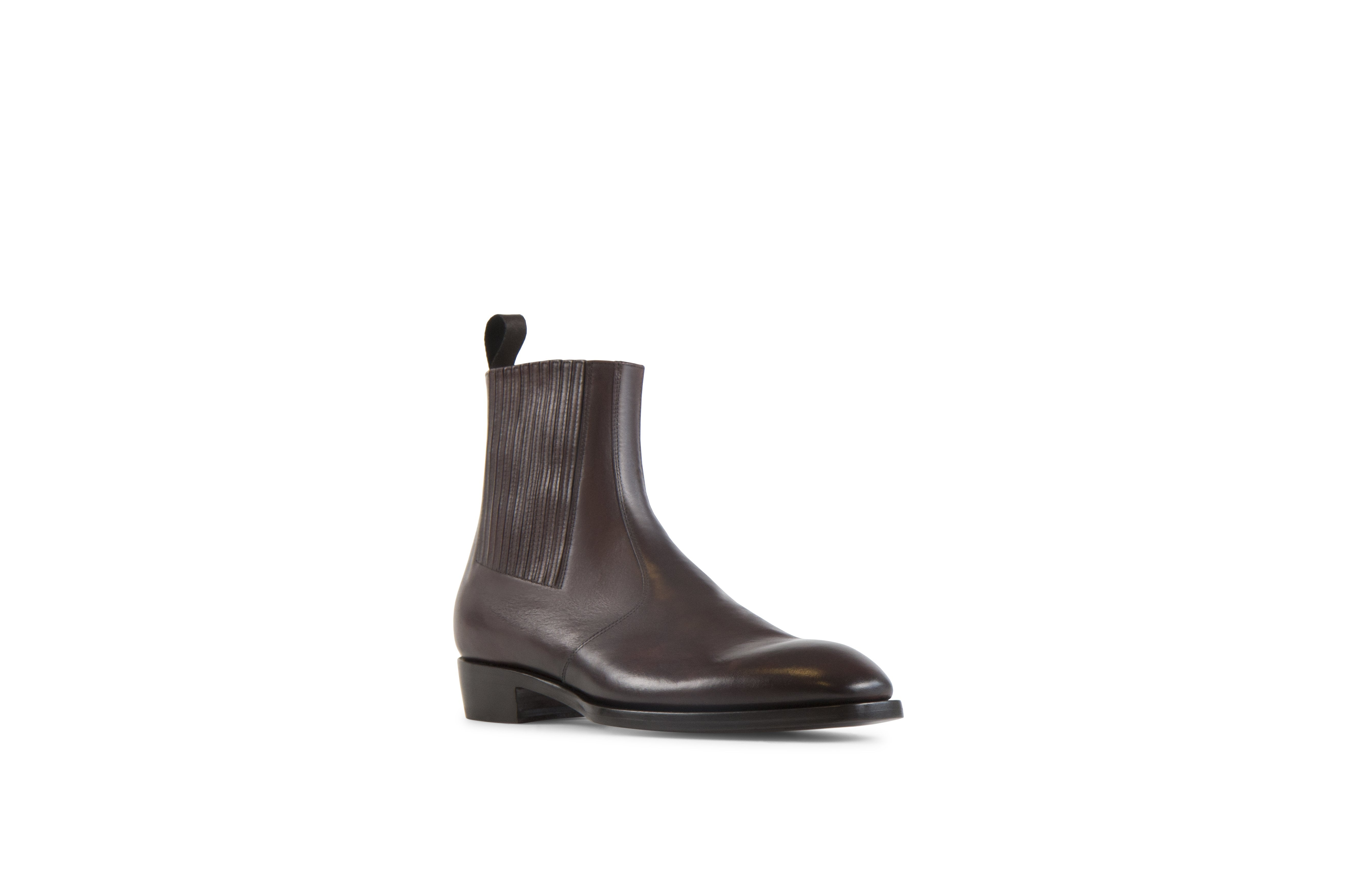 Jay Tmoro Soft Cordovan Leather Chelsea Boots