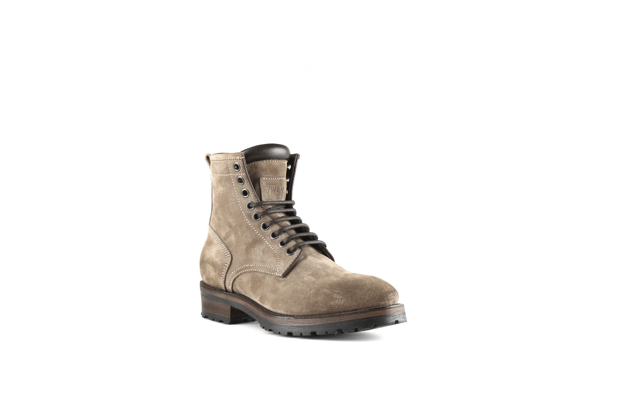 Royal Sand Suede Leather Logger Boots
