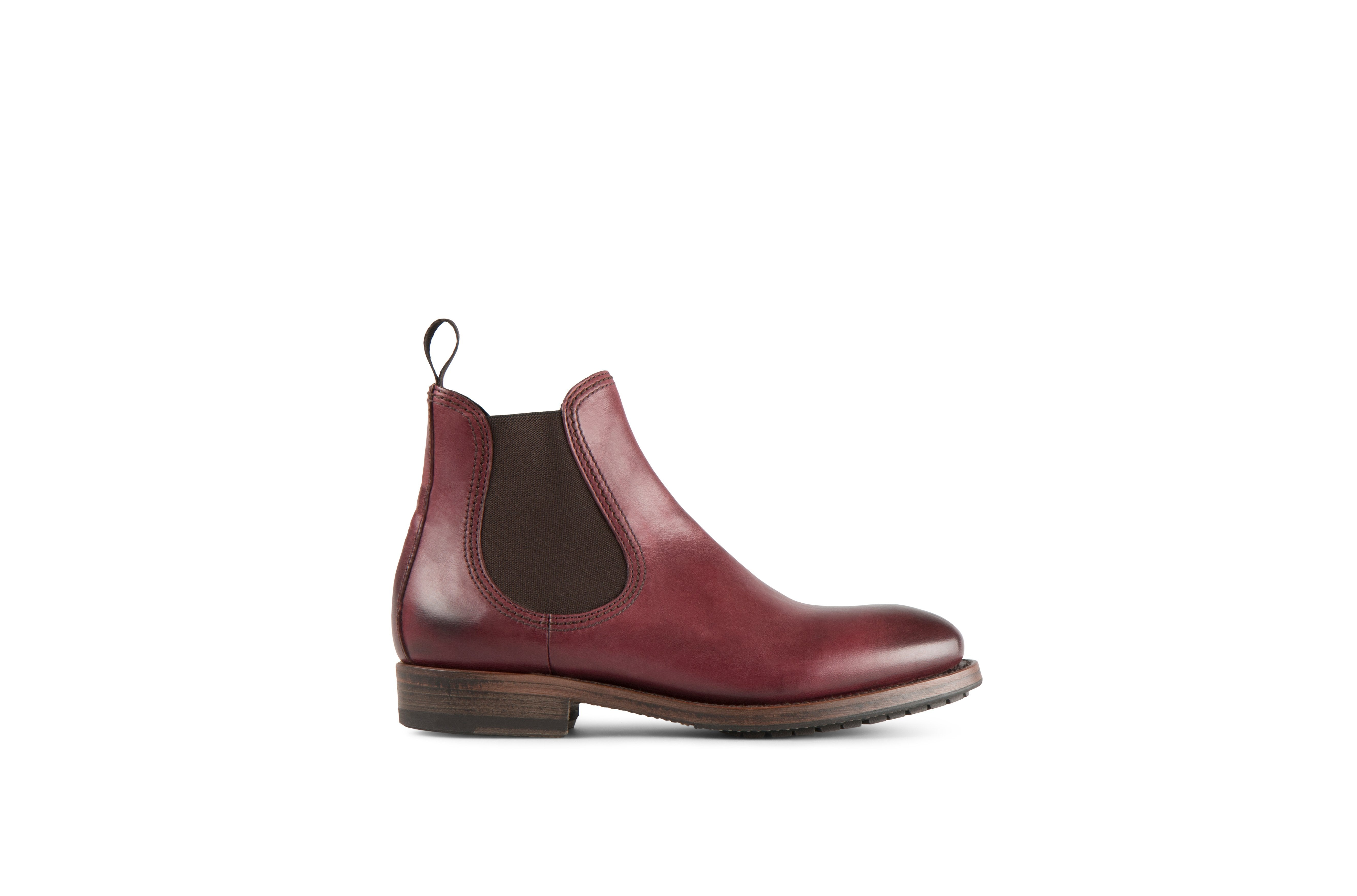 Hanoi Burgundy Cordovan Leather Chelsea Boots