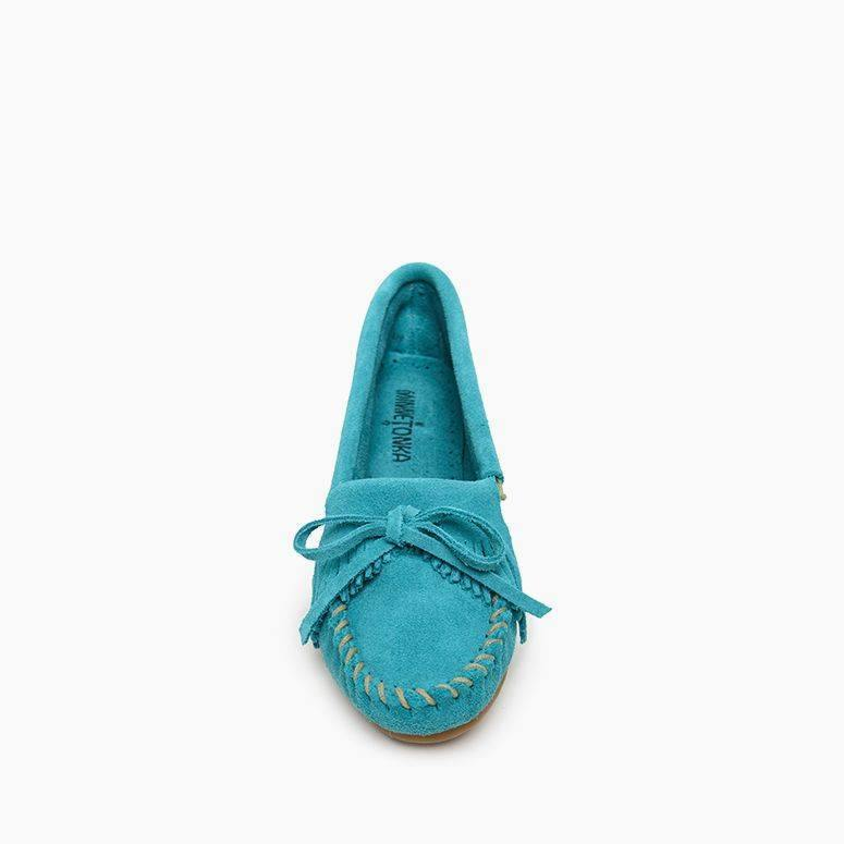 "Women's Moccasins the ""Kilty"" Hard Sole by Minnetonka Toe"