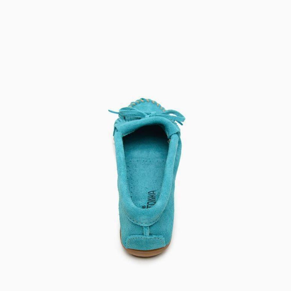 "Women's Moccasins the ""Kilty"" Hard Sole by Minnetonka Back View"