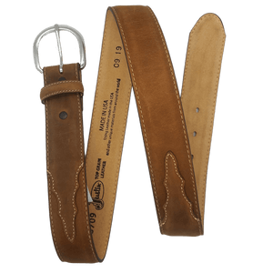 """Classic Western"" Leather Belt by Justin 53709 Full View"