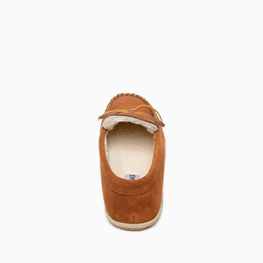 Men's Moccasins the Taft Hardsole Moccasin by Minnetonka 41032 Back View