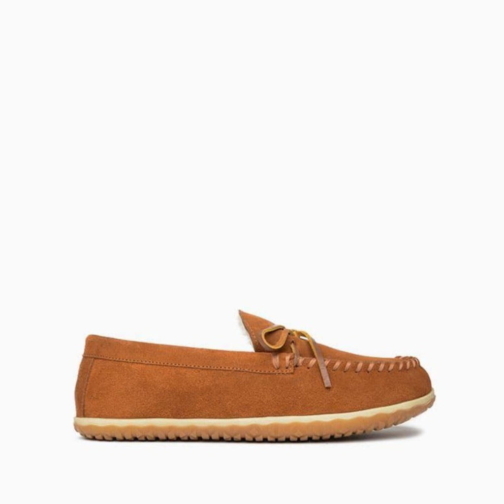 Men's Moccasins the Taft Hardsole Moccasin by Minnetonka 41032 Side View