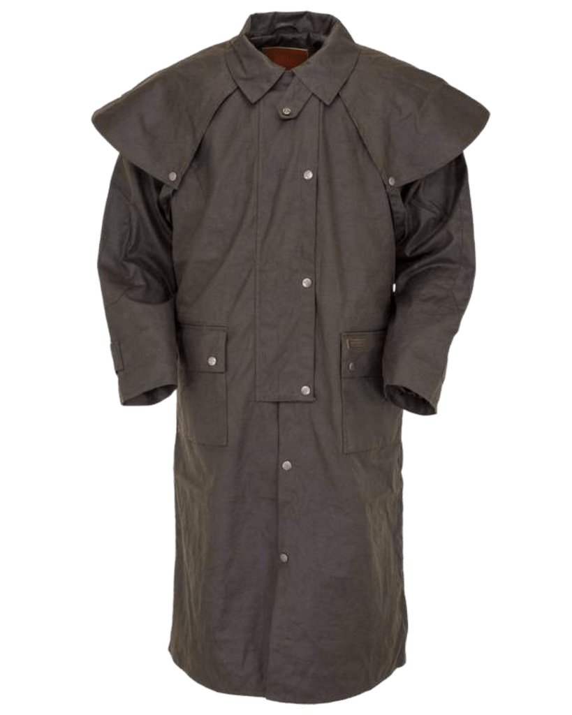 """Oilskin Duster"" by Outback 2042 Brown Front View"