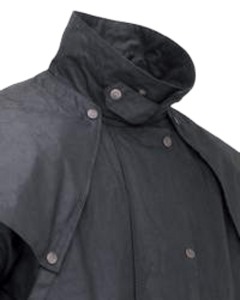 """Oilskin Duster"" by Outback 2042 Neck & Shoulder view"