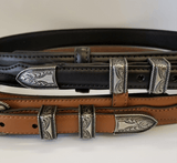 """Ranger"" Belt by Nocona N2450701 Accents"