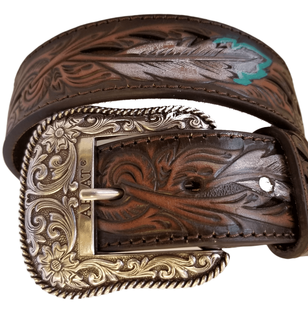 "Unisex ""Feather Belt"" by Ariat A1034008 Buckle"