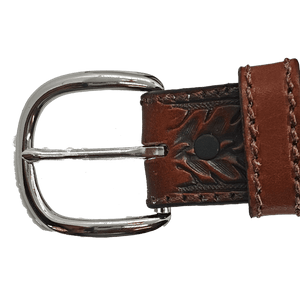 """Vaquero"" Belt by Tony Lama C42614 Buckle"
