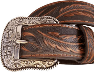 """Western Feather"" Belt by Ariat A1029608 Buckle"