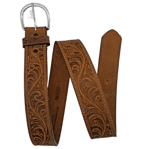 """Western Scroll"" Belt by Justin 53909 Full View"