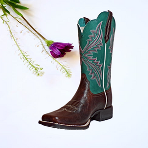 "Women's Leather Boots the ""West Bound"" by Ariat 10033978 Bg"
