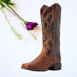 "Women's Leather Cowgirl Boots the ""Jackpot"" by Ariat 10031430 Bg"