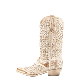 "Women's Leather Cowgirl Boots the ""Mandala"" by Ferrini 817611008 Side View"