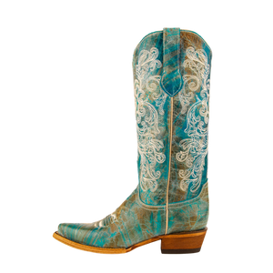 "Women's Leather Cowgirl Boots the ""Southern Charm"" by Ferrini 82161500 Side View"