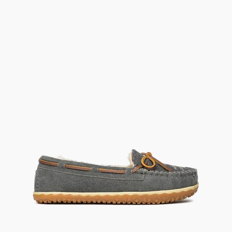 "Women's Moccasin Slippers the ""Tilia"" by Minnetonka 40155 Side View"