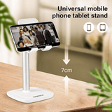 Kantelbare smartphone of tablet houder