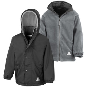 Result Junior Reversible StormDri 4000 Winter Jacket BLACK