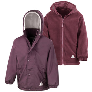 Result Junior Reversible StormDri 4000 Winter Jacket BURGUNDY