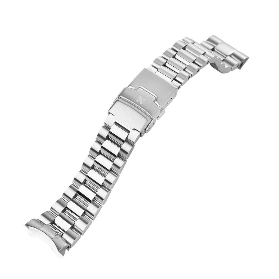 SKX007 Bracelet: President, Brushed & Polished Steel Finish