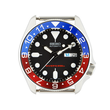SKX Steel Bezel Insert: Dual Time Red Triangle for SKX007 SKX009