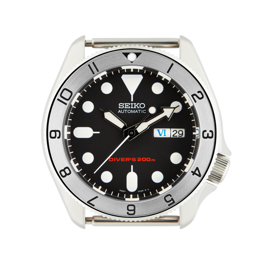 SKX007 Steel Bezel Insert: Dual Time [Black Triangle]