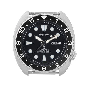 SRP Turtle Ceramic Bezel Insert: Dual Time style Black/White