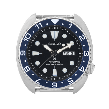 SRP Turtle Ceramic Bezel Insert: Dual Time style Blue/White