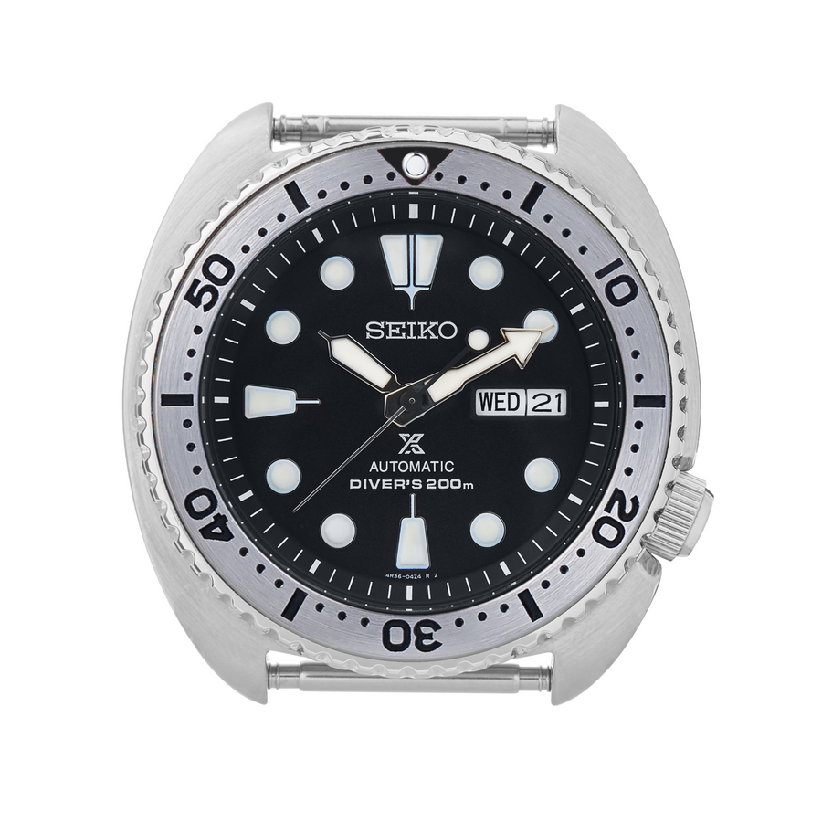 SRP Turtle Steel Bezel Insert: Seiko Style Black for Seiko Turtle Reissue