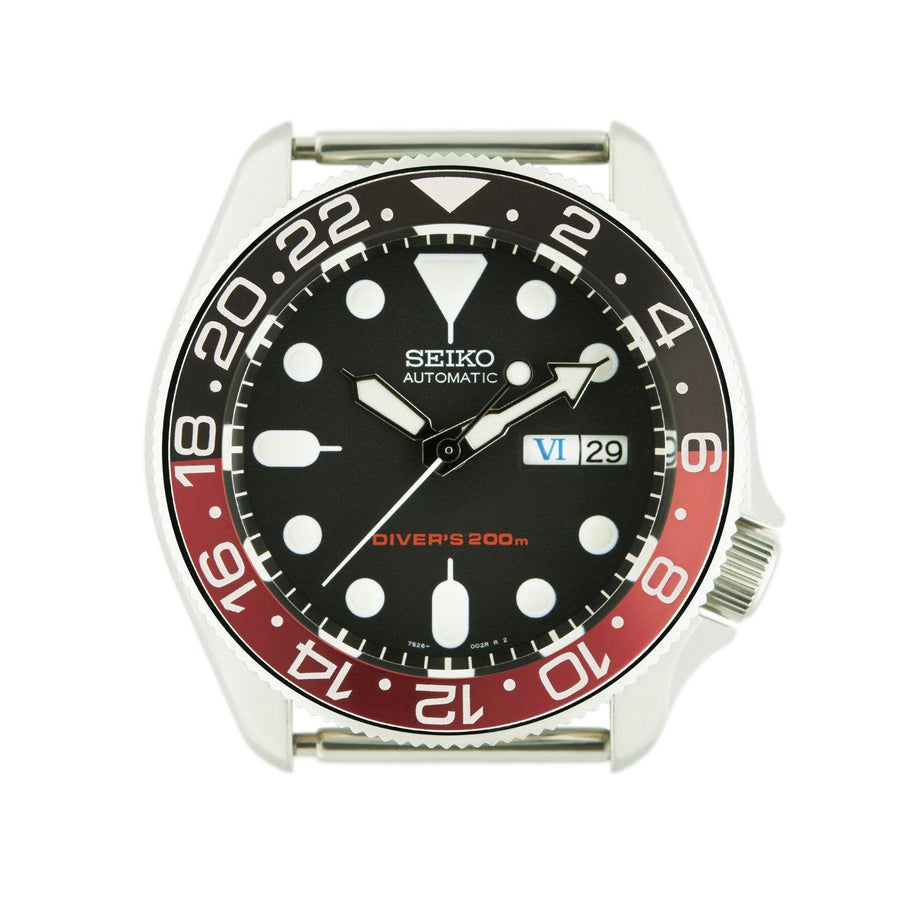 SKX007 SKX009 Bezel Insert Black Red Coke GMT Style