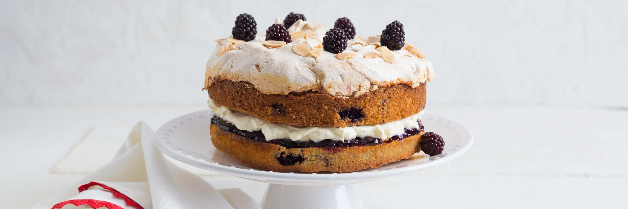 Blackberry Meringue Cake