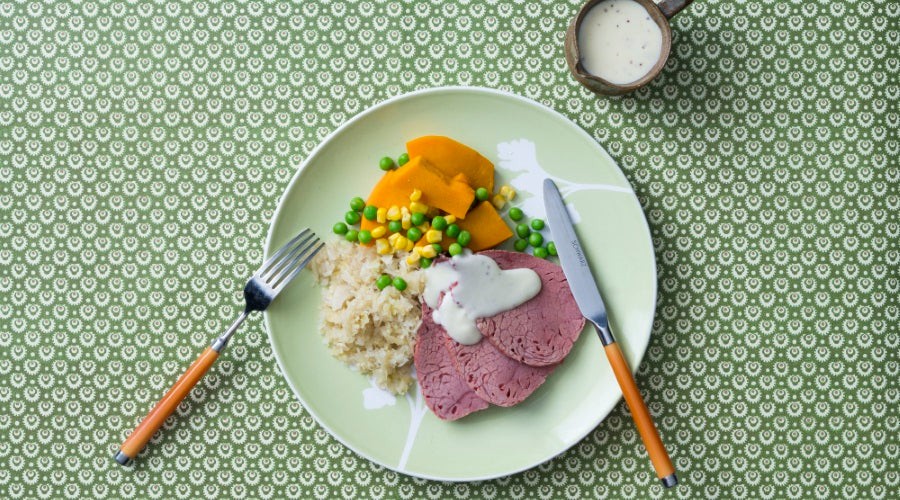 Corned Beef with Mustard Sauce Thermomix Recipe