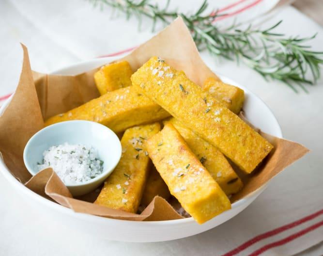 Rosemary and thyme polenta chips