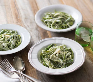 Spinach and lemon pasta