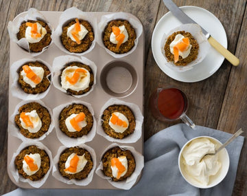 Carrot poppy seed muffins
