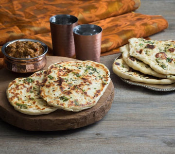 Garlic and coriander naan