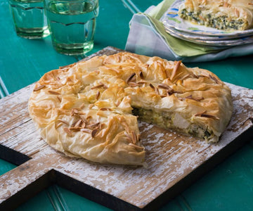 Filo spinach slice