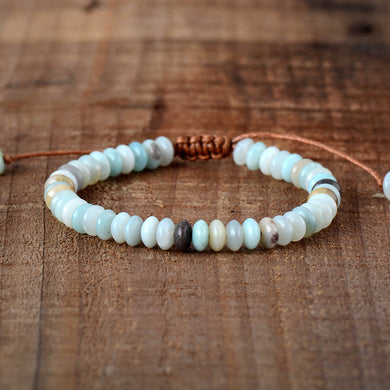 Bracelet Disc Shape Amazonite Friendship Bracelets Fashion Punk