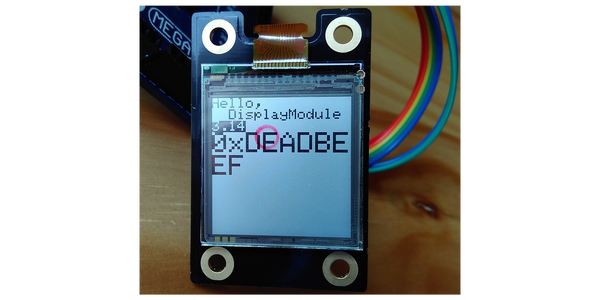 Another E-paper display - Sharp Memory LCD