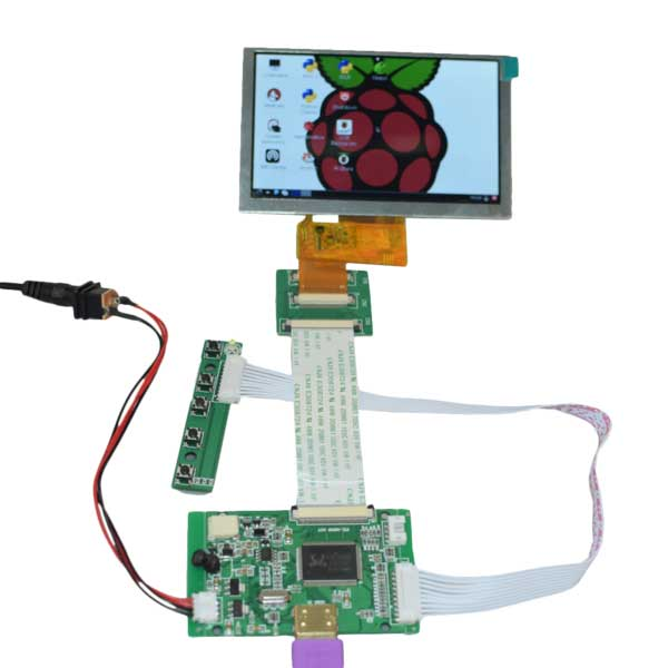 "5"" 800x480 HDMI Display for Raspberry Pi Mini Driver"