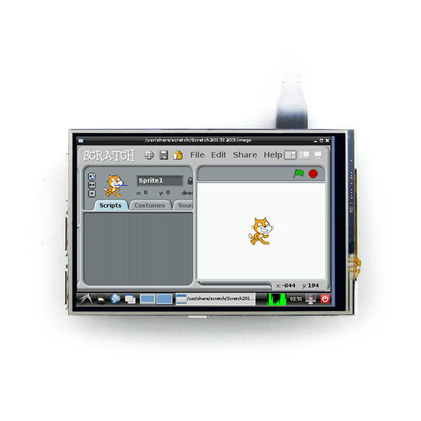 "4.0"" 480x320  IPS Display for Raspberry Pi with Resistive Touch"