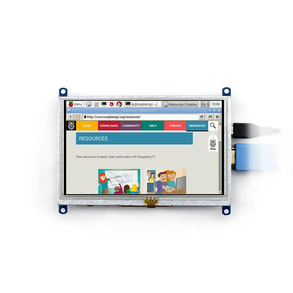 "5"" 800x480 HDMI Display for Raspberry Pi with Resistive Touch (USB Touch Interface)"