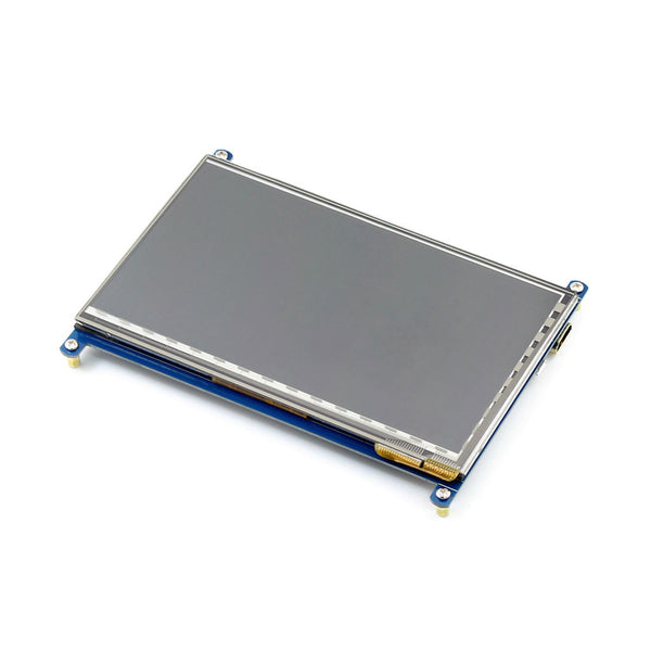 "7"" 800x480 HDMI Display for Raspberry Pi with Capacitive Touch"
