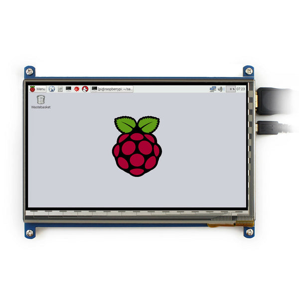 "7"" 1024x600 HDMI Display for Raspberry Pi with Capacitive Touch"